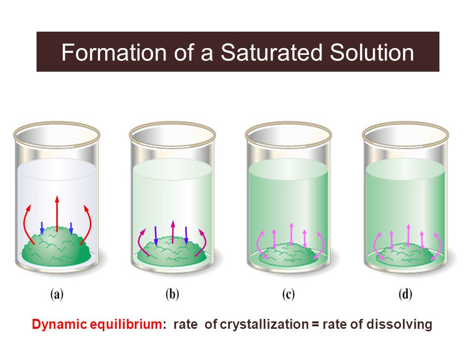 Formation of a Saturated Solution
