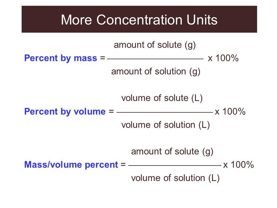 More Concentration Units