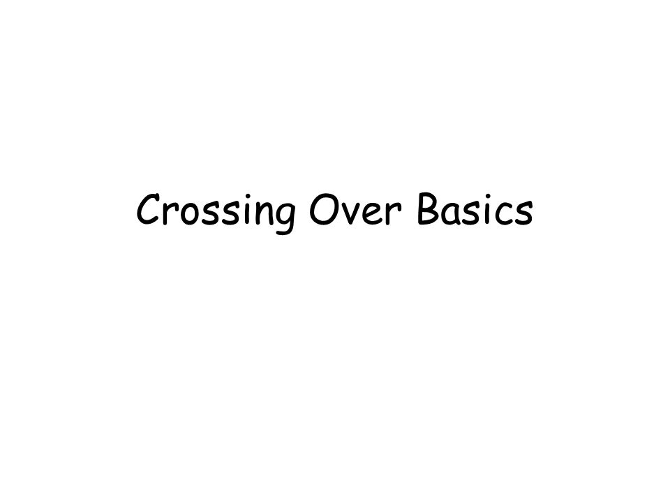 Crossing Over Basics