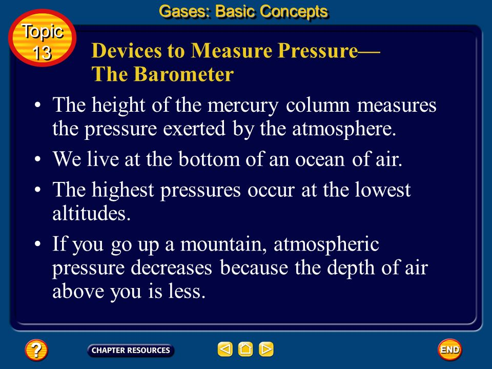 Devices to Measure Pressure—The Barometer