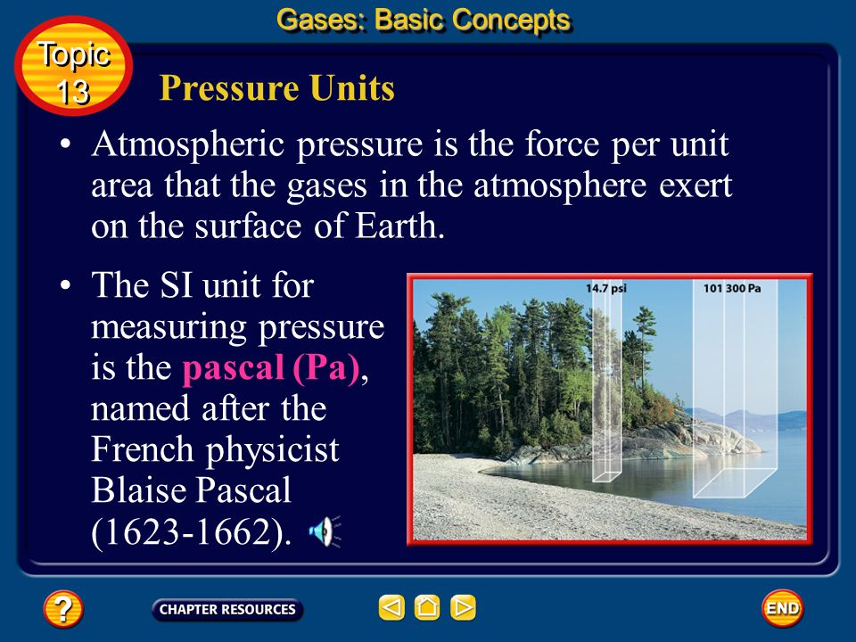 Gases: Basic Concepts Topic. 13. Pressure Units.