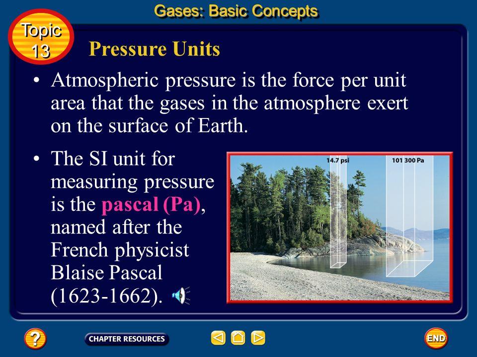 Gases: Basic ConceptsTopic. 13. Pressure Units.