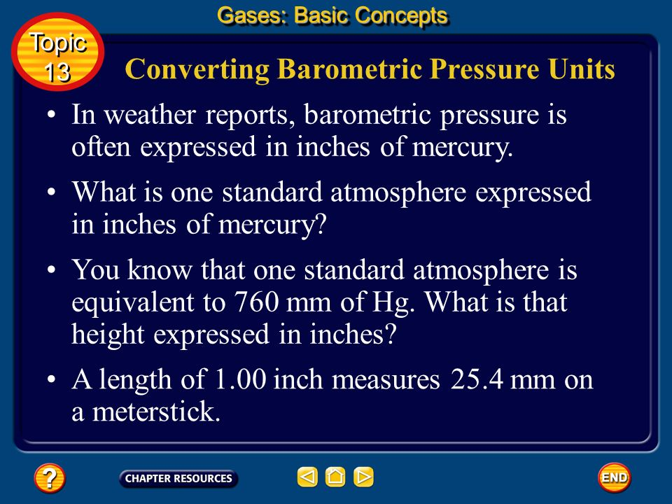 Converting Barometric Pressure Units