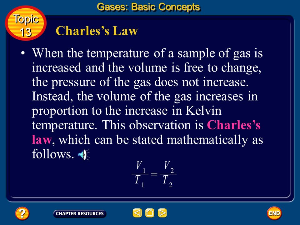 Gases: Basic Concepts Topic. 13. Charles's Law.