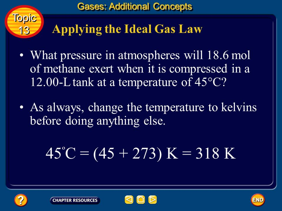 Applying the Ideal Gas Law