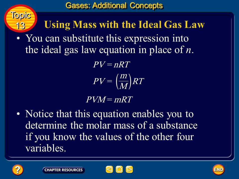 Using Mass with the Ideal Gas Law