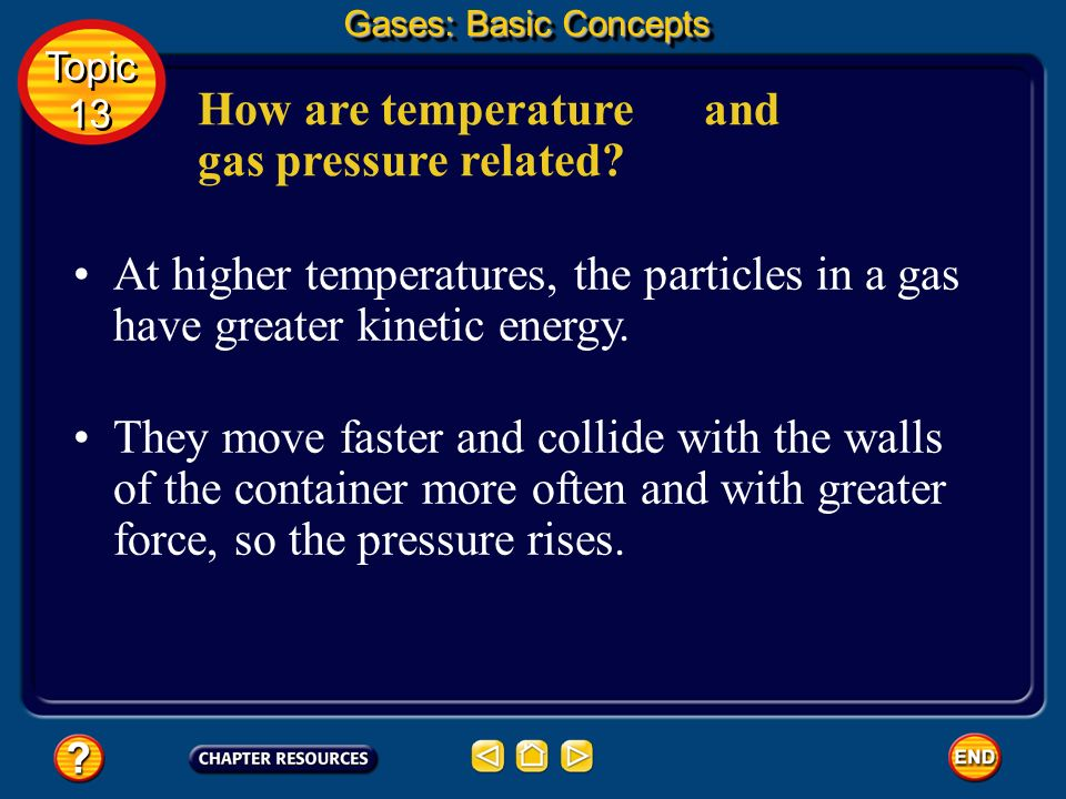 How are temperature and gas pressure related