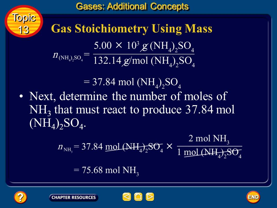 Gas Stoichiometry Using Mass