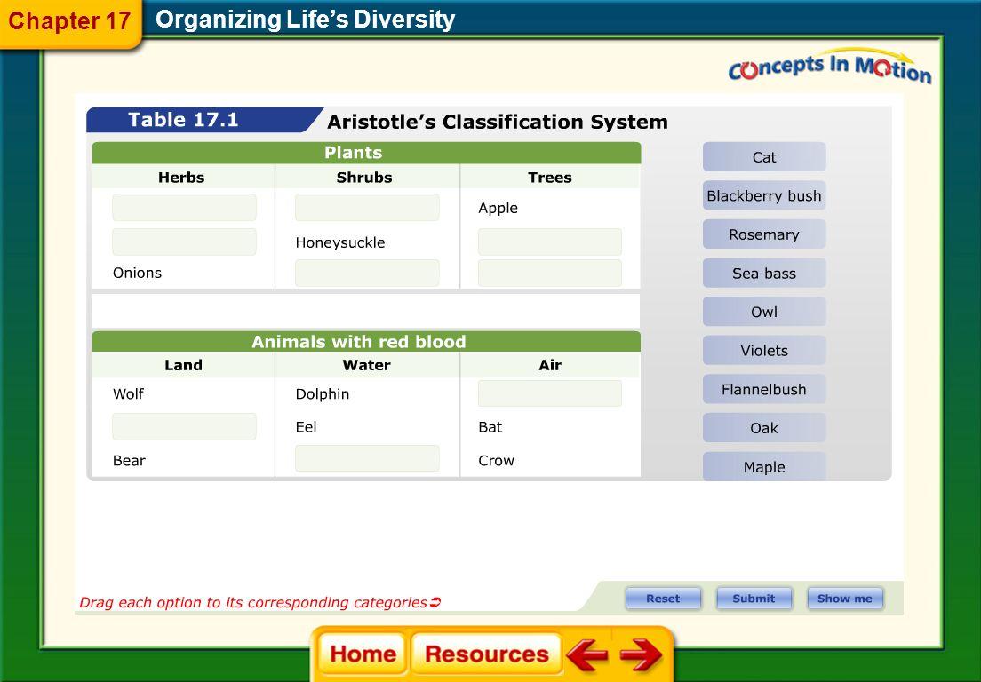 Chapter 17 Organizing Life's Diversity