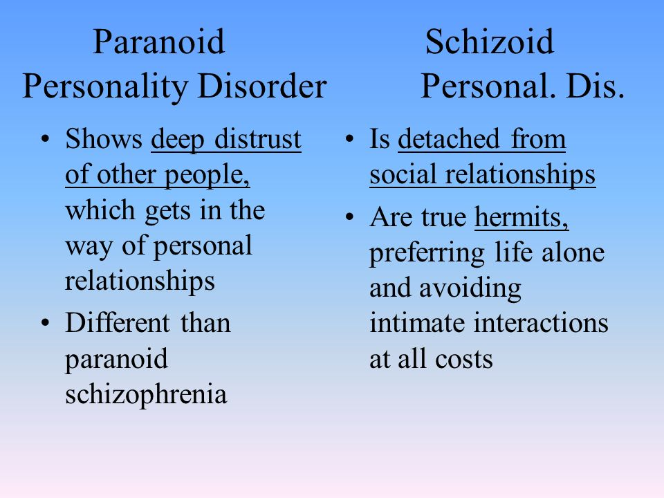 Dating someone with paranoid personality disorder