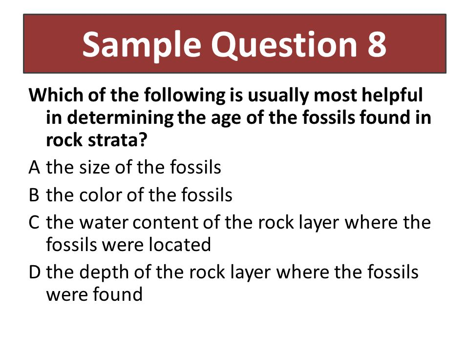 Sample Question 8