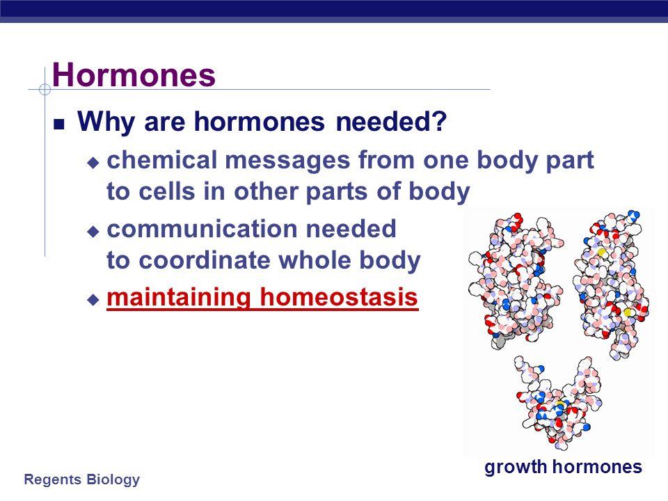 Hormones Why are hormones needed
