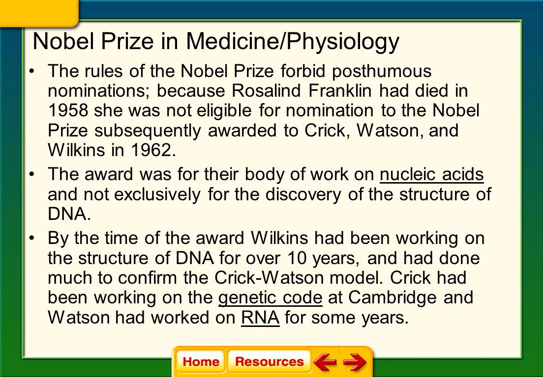 Nobel Prize in Medicine/Physiology