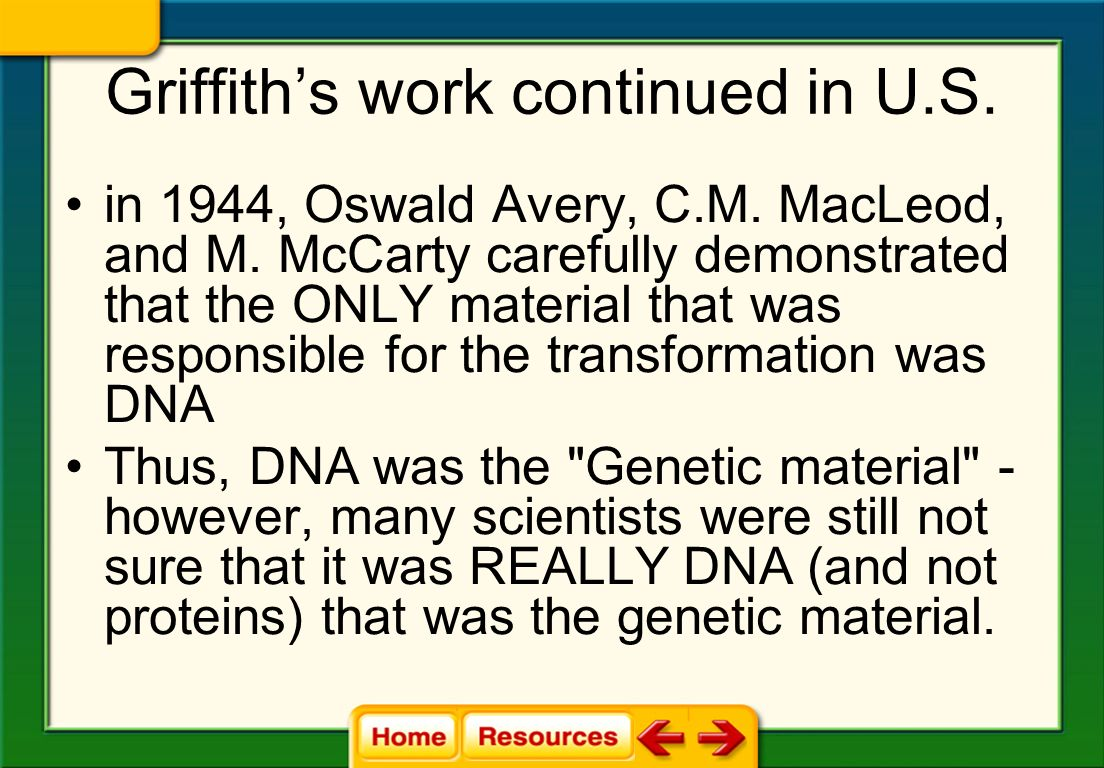 Griffith's work continued in U.S.