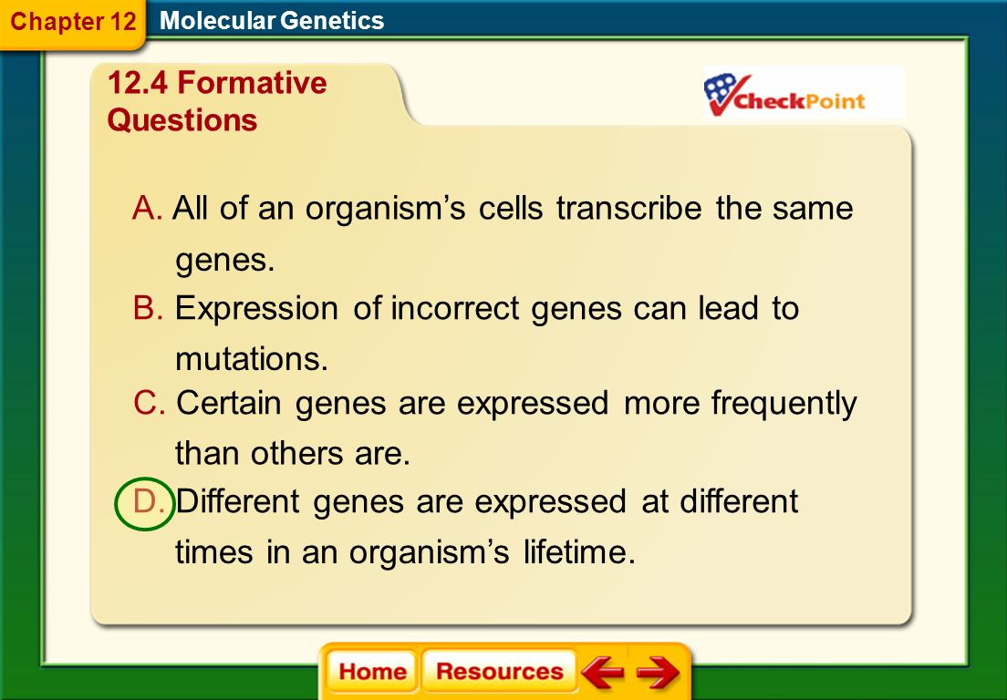 All of an organism's cells transcribe the same