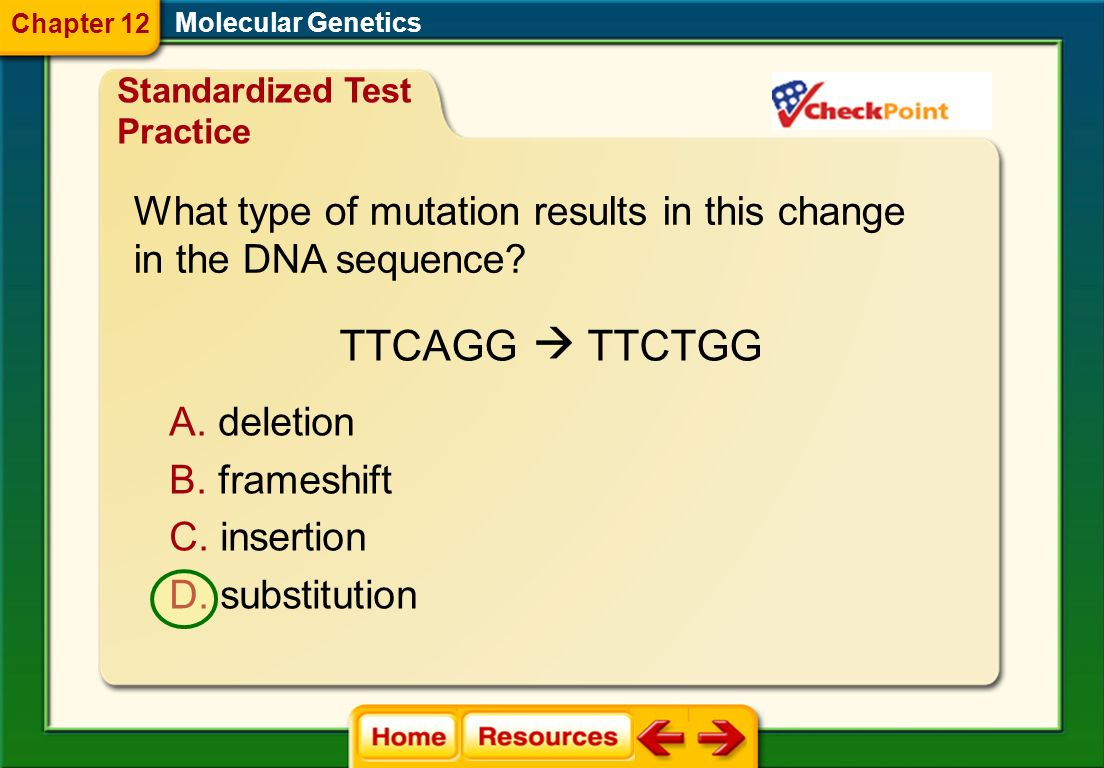 TTCAGG TTCTGG What type of mutation results in this change