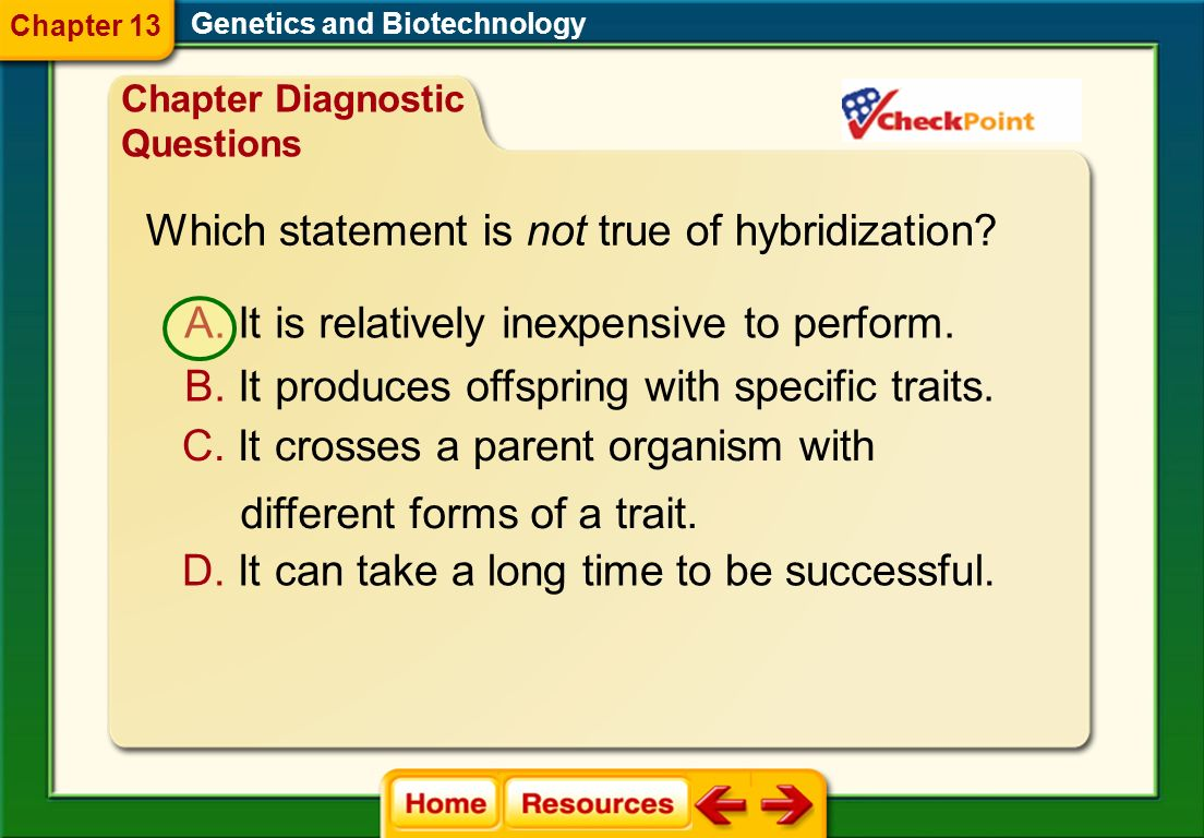 Which statement is not true of hybridization