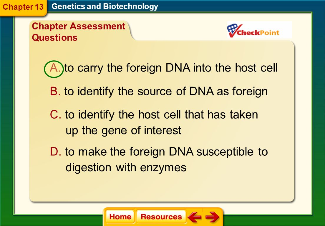 to carry the foreign DNA into the host cell