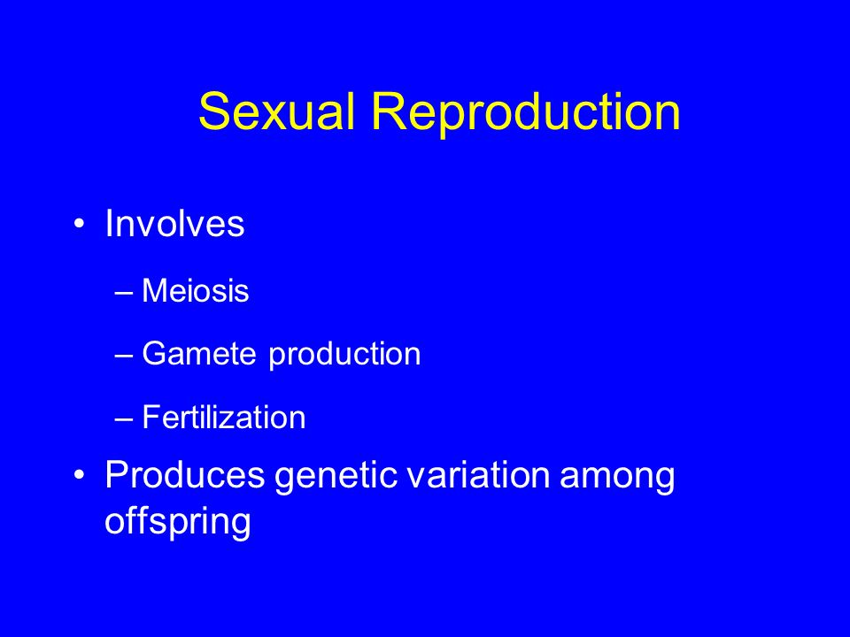 Sexual Reproduction Involves