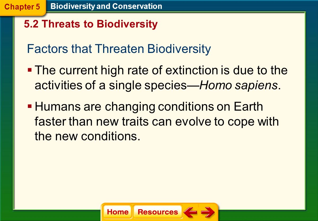 Factors that Threaten Biodiversity