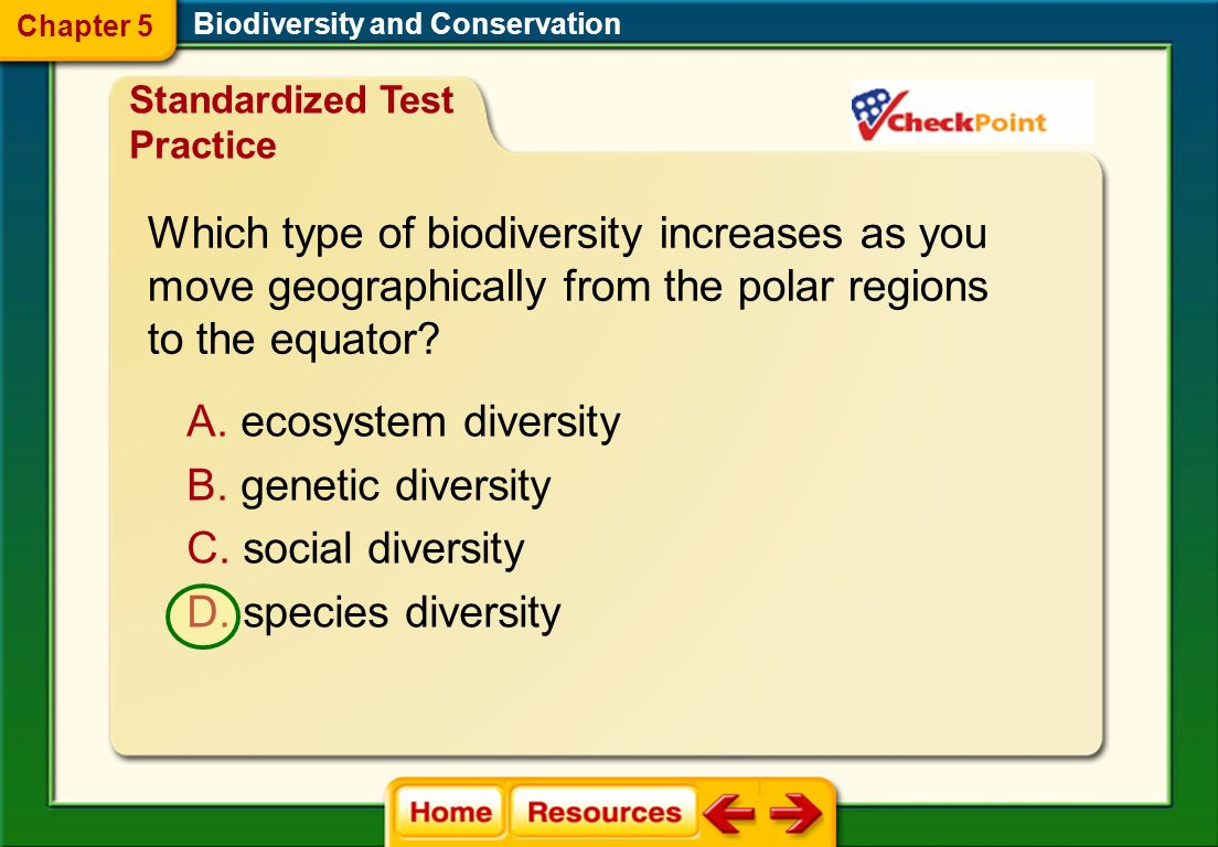 Which type of biodiversity increases as you