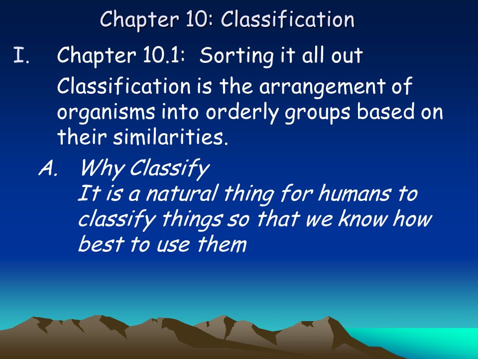 Chapter 10: Classification