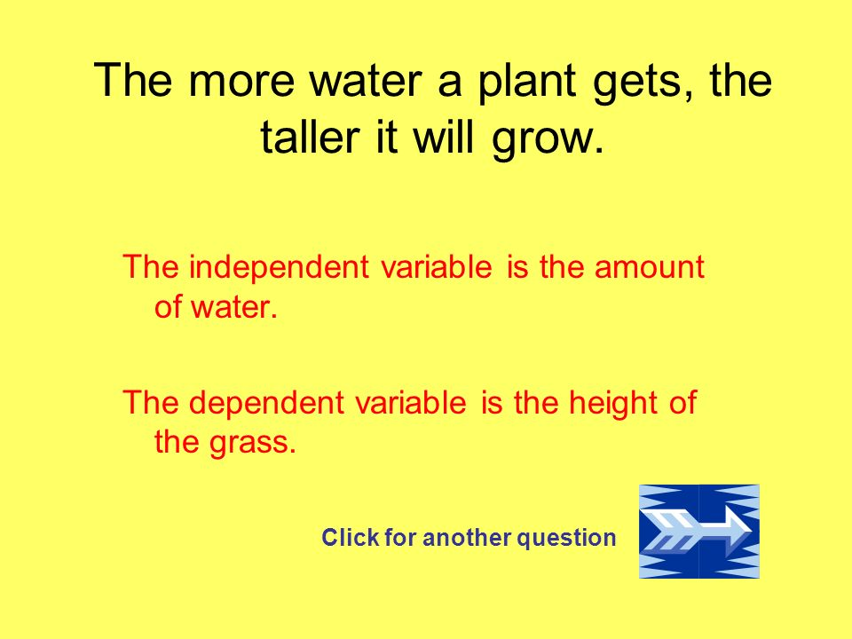 The more water a plant gets, the taller it will grow.