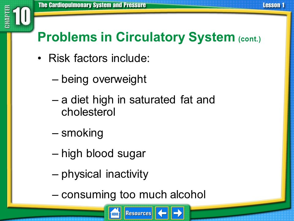 Problems in Circulatory System (cont.)