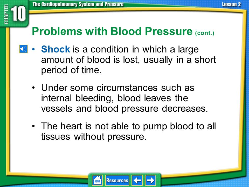 Problems with Blood Pressure (cont.)