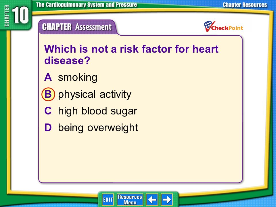 Which is not a risk factor for heart disease A smoking
