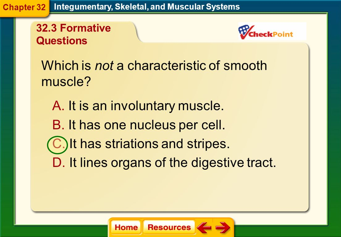 Which is not a characteristic of smooth muscle