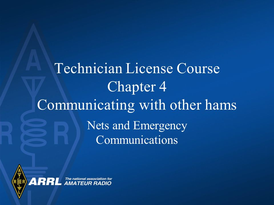 Technician License Course Chapter 4 Communicating with other hams
