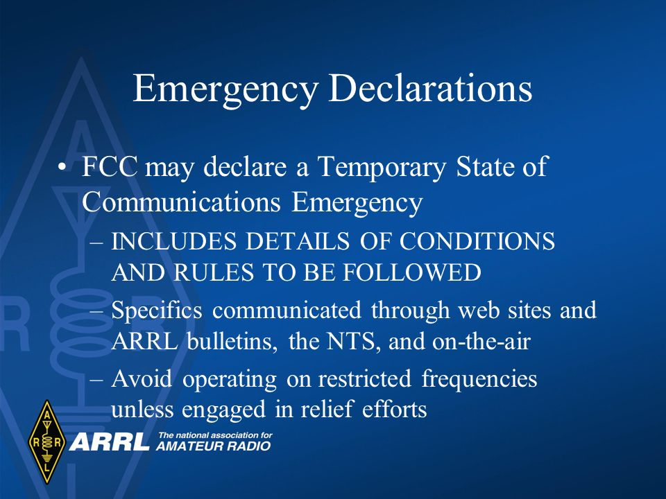 Emergency Declarations
