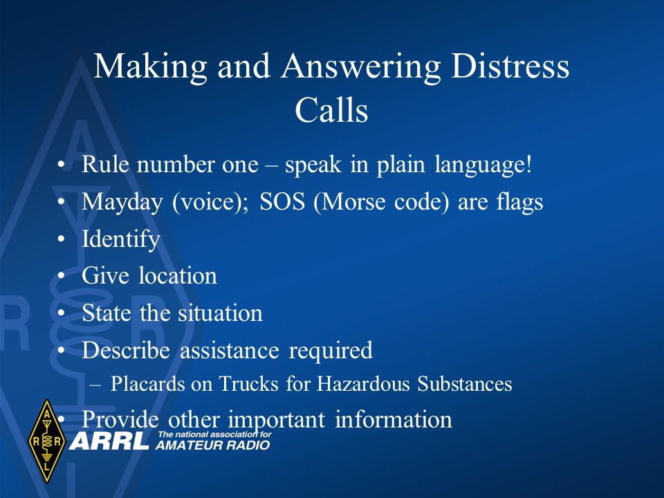 Making and Answering Distress Calls