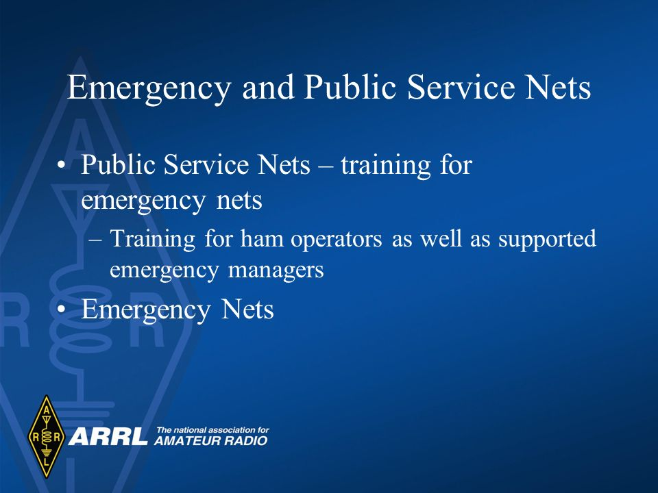Emergency and Public Service Nets
