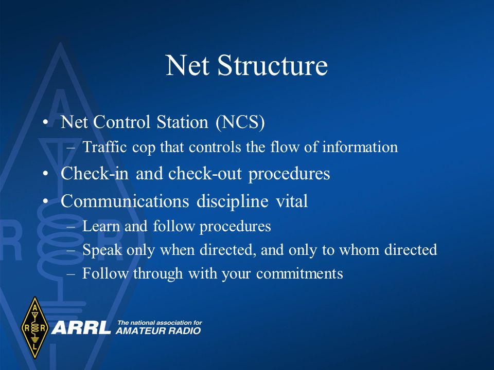 Net Structure Net Control Station (NCS)