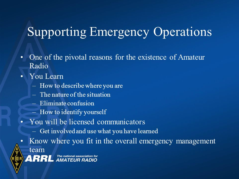Supporting Emergency Operations