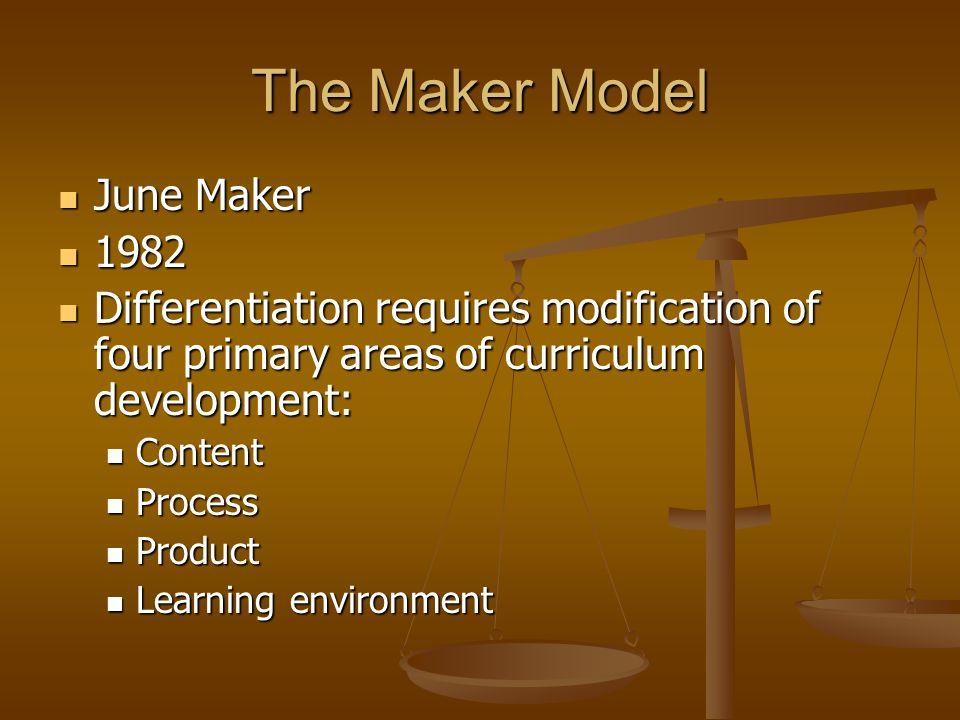 The Maker Model June Maker 1982