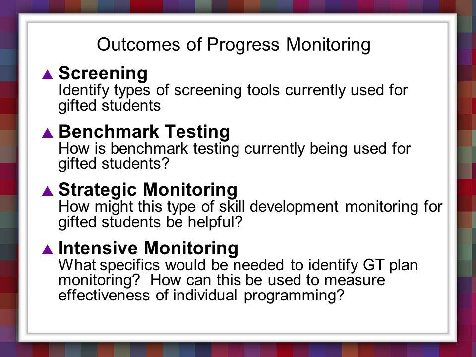Outcomes of Progress Monitoring