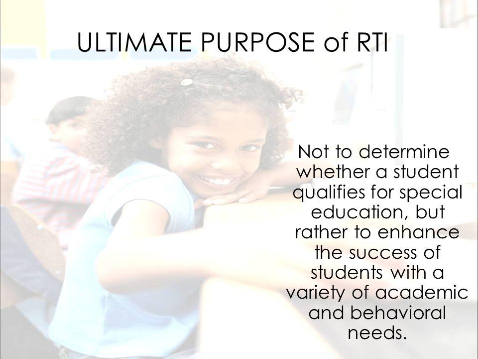 ULTIMATE PURPOSE of RTI