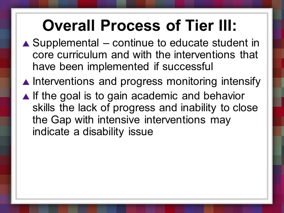 Overall Process of Tier III: