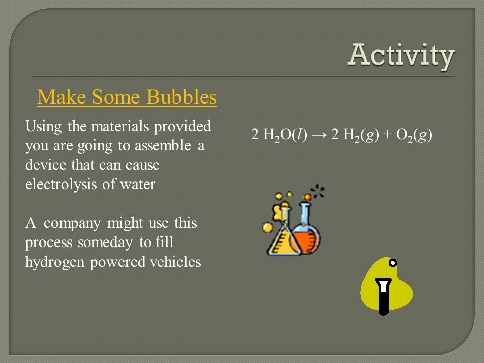 Activity Make Some Bubbles