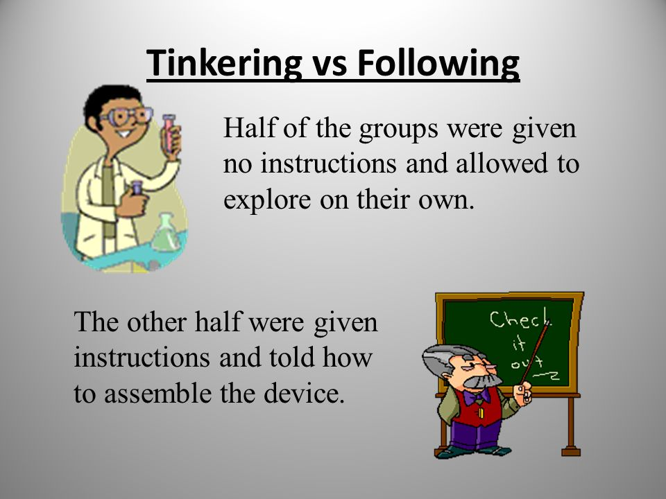 Tinkering vs Following
