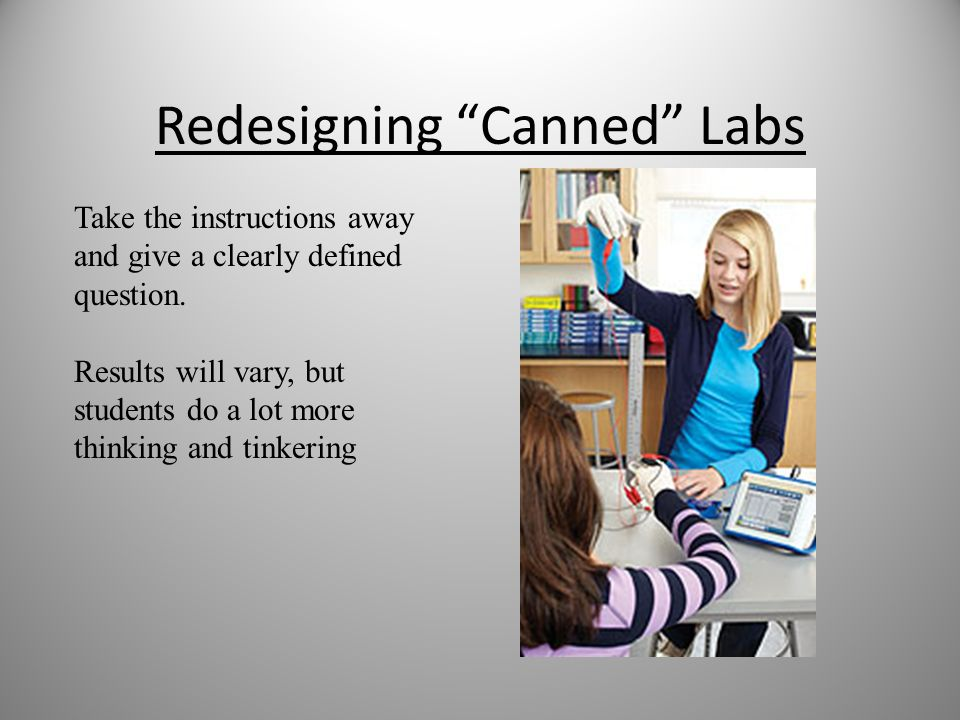 Redesigning Canned Labs
