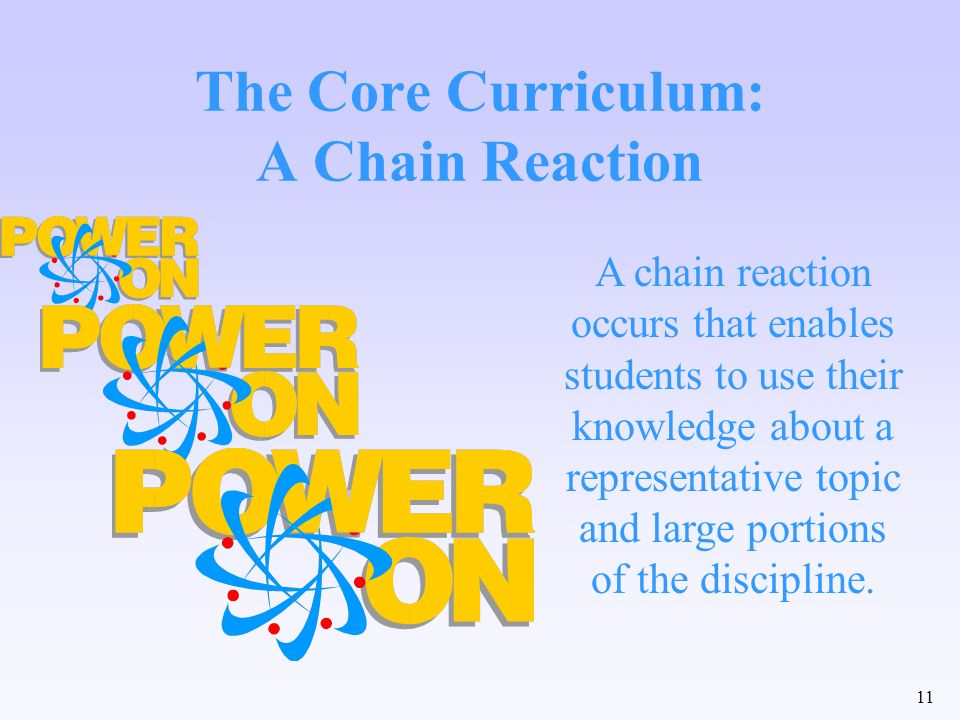 The Core Curriculum: A Chain Reaction