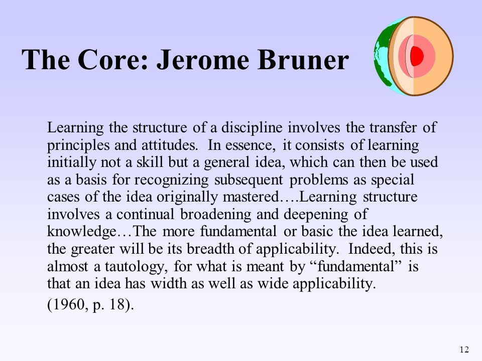 The Core: Jerome Bruner