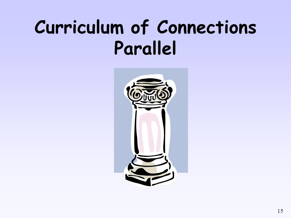 Curriculum of Connections Parallel
