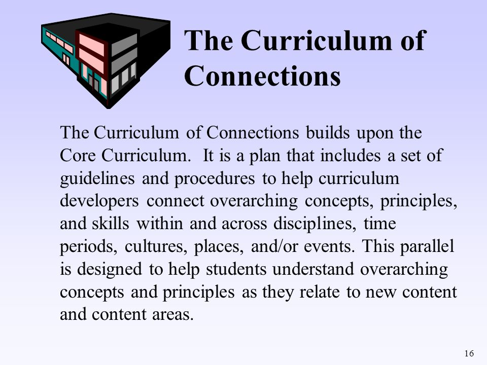 The Curriculum of Connections