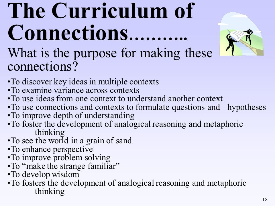 The Curriculum of Connections………..