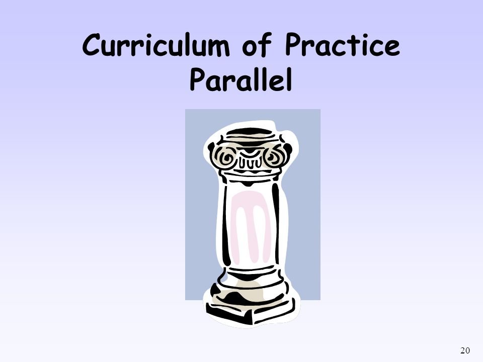 Curriculum of Practice Parallel